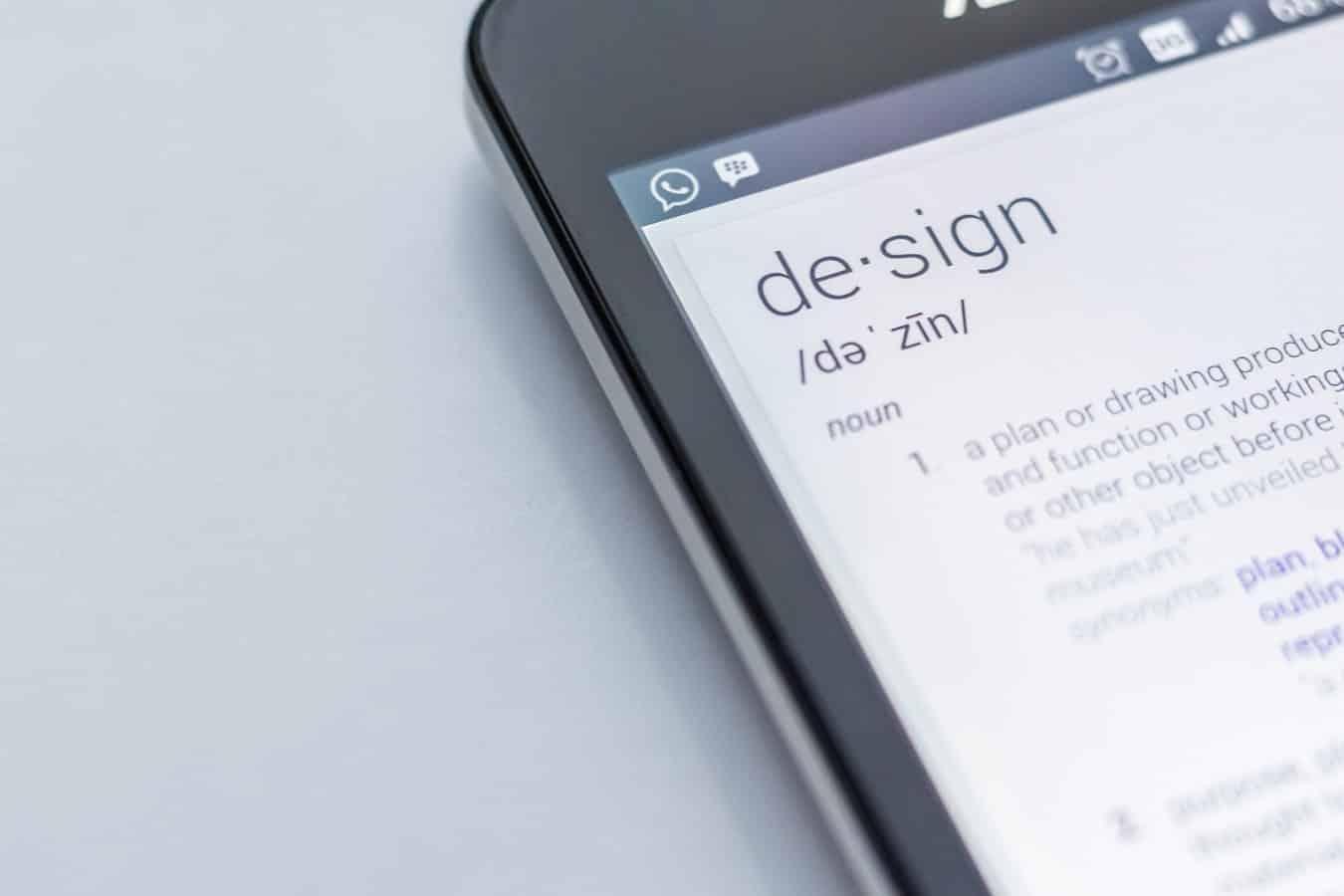 Definition of design - website design